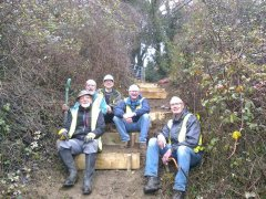 Path clearance and new steps near Haycombe Lane, 16th December 2016