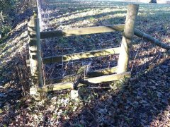 Repairs to broken stile near Stowey, 20th January 2017 (Before)
