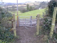 Replacing two stiles with a kissing gate at Nempnett Thrubwell, 2nd February 2017 (After)