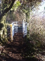 Replacing stile with kissing gate near Chew Stoke, 20th January 2017 (After)