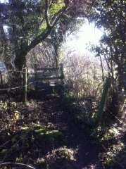Replacing stile with kissing gate near Chew Stoke, 20th January 2017 (Before)