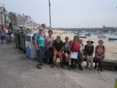 A happy group at St Ives